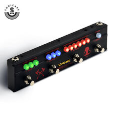 Sonicake Multi Guitar Effect Pedal Strip Black Hammer 4 Functions Combined in 1