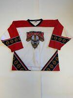 Vintage Lexington Men-o-war Game Worn Authentic Fight Strap Jersey