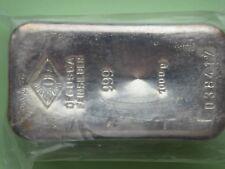 Degussa Silberbarren, 1 kg., Feingehaltt: 999, mit Seriennummer, in Folie