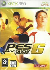 PRO EVOLUTION SOCCER 6 PES 6 for Xbox 360 - with box & manual - PAL