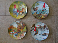 Gnome Collector Plate Set - The Four Seasons 1982 by Rien Poortvliet