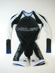 VOLER Womens XS Raglan Trilogy EOS Long Sleeve Tri Cycling Skin Suit