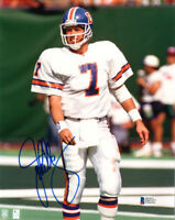 JOHN ELWAY SIGNED AUTOGRAPHED 8x10 PHOTO DENVER BRONCOS LEGEND RARE BECKETT BAS
