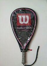 "New listing Wilson Racquetball Racquet Women's HOPE 4"" Grip Pink w/ Cover"