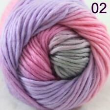 AIP Sale 1 Skein x50g Rainbows Coarse Hand Knit Quick Wool Yarn Shawl Scarves 02