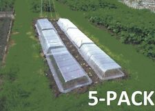 POLYTUNNEL COVER LIDS CLEAR, RIGID PLASTIC 5-PACK PROPAGATOR. GARDEN, GREENHOUSE