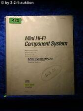 Sony Bedienungsanleitung MHC 600 / FH E9X Mini Hifi Component System (#0422)