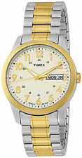Timex T2M935, Men's Two-tone Expansion Band Watch, Indiglo, Day/Date, T2M9359J