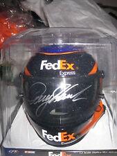 "NASCAR Denny Hamlin #11 Fed Ex Express JGR ""Signed"" Mini Helmet NEW"