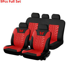 Universal Black/Red Embroidery Front Rear Seat Cover Car Interior Accessories