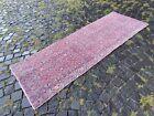 Bohemian runner rug, Turkish vintage rug, Handmade wool rug | 2,5 x 7,0 ft
