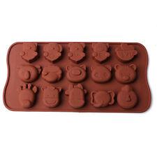 Animal Zoo Goat Love YOU Koala Silicone Soap mold Candy Chocolate Fondant mould
