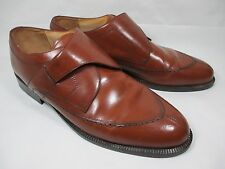 Stanley Blacker Italy Tan Leather Slip On Strap Loafers Men's Shoes Size 15 M