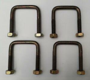 4 x square n-bolt U-bolt Galvinised 51x65