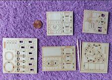 Melody Jane Puppenhaus Miniatur 1:48 Kunststoff Studien Büromöbel Set