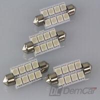 4 X LED Feston Lampe 40 mm 12V 8-FACH LED Intérieur Signal Couleur Orange