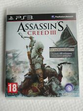 PlayStation 3 : PS3 ASSASSINS CREED III : EXCLUSIVE EDITION Tested No Faulty