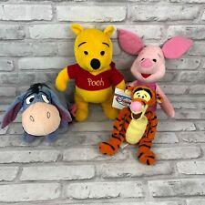Disney Winnie The Pooh Stuffed Plush Lot of 4: Pooh, Piglet, Eeyore, Tigger