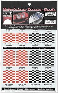 Scale Motorsport Tapisserie Motif Décalques, Rouge/Noir Shelby Gt 1/12 Smo