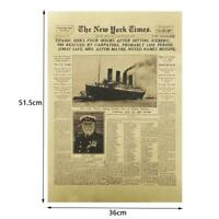 The New York Times History Poster Titanic Shipwreck Retro Old Newspaper Pap U9F7