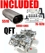 QUICK FUEL HR-750-B2 BLOWER SUPERCHARGER CARBS GAS WITH LINES LINKAGE SCOOP