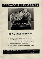 1950 PAPER AD Cadaco Ellis Board Game Bas Ket Basket Milton Bradley Finger Paint