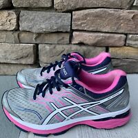 Asics GT-2000 5 Womens Size 7 Running Shoes Mid Gray White Pink Glow