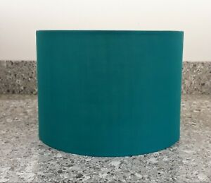 TEAL FABRIC LAMPSHADE 25CM DIAMETER