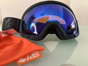 Spy+Ski goggle  platoon black flight blue mirror lens