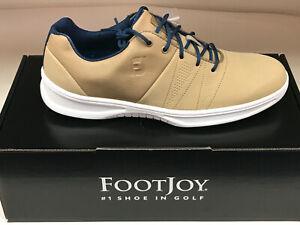 NEW FootJoy Contour Casuals 54056 Tan Men's Golf Shoes 12M Were $135