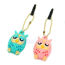3.5mm Cute Owl Anti Dust Stopper Earphone Jack Plug Cap For HTC Samsung iPhone