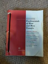 Fundamentals of Heat and Mass Transfer: 7th Edition (978-0470-50197-9)
