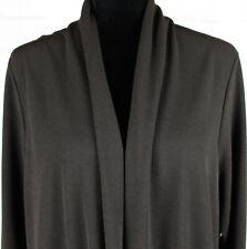 Susan Graver Passport Knit Open Cardigan, Size 2X, Style A268005, Brown