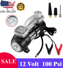 12V Portable Mini Air Compressor 100 Psi Auto Car Electric Tire Inflator Pump Us