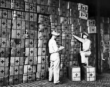 New 8x10 World War II Photo: American Red Cross Prepares Gift Boxes for Soldiers