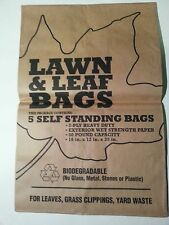 Duro 37090 50 Pound Capacity Lawn & Leaf Paper Bags (1 bundle of 5 bags)