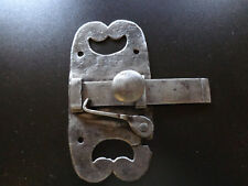 Ancien verrou ,  targette en fer forgé ,  XVIIIème