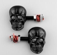 Conjunto 2 Piezas Par De Intermitentes Led Skull Negro Suzuki Honda Kawasaki