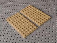 Lego Plate 6x12 [3028] Beige Tan x2