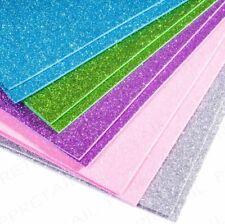10 Sheets of A5 Premium Glitter Foam Sheets Mix Colours Scrapbooking Paper UK