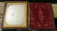 antique Daguerreotype Photo with Gold colored trim case frame young couple