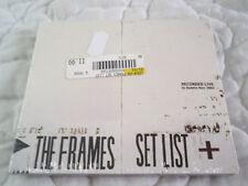 THE FRAMES SET LIST CD NEW DIGIPAK LIVE IN DUBLIN IRELAND NOV 2002 CONCERT TOUR