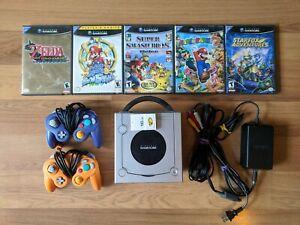Nintendo GameCube Console Bundle + 2 Nintendo Official Controllers & Games(NTSC)
