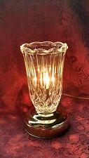 VINTAGE CRYSTAL/BRASS TV TABLE LAMP