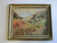 FINEST STAN PORAY PAINTING ANTIQUE AMERICAN SAND MOUNTAIN DUNES  IMPRESSIONIST