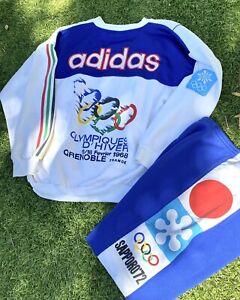 Rare VTG ADIDAS Sapporo '72 France '68 Olympics Sweatshirt 90s With Pants