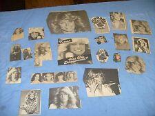 Vintage Farrah Fawcett  Photos from  Magazine sheets clips... various lot  / f2