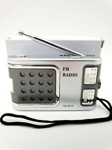 Mini Radio Compact Portable FM AS-810 Lampe LED Intégrée + Ecouteurs
