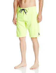 Hurley Men's One and Only Boardshort Swimming Trunks, Volt, Yellow, Size 30