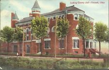 OLD VINTAGE LICKING COUNTY JAIL IN NEWARK OHIO 1909 POSTCARD